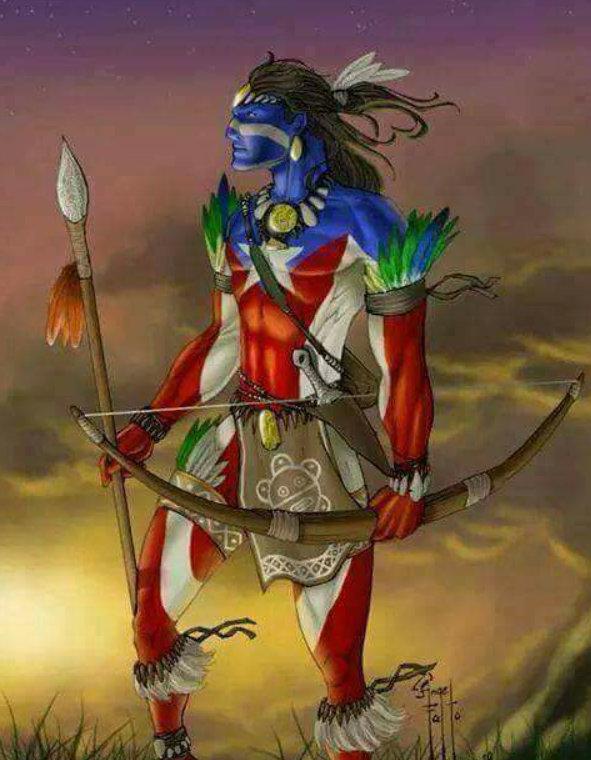 letourvoicesecho-distressflag-aztec-indianholocaust-standingrock-blacksnake