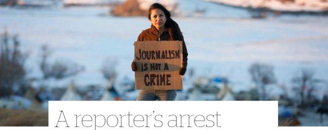letourvoicesecho-distressflag-didi-indianholocaust-standingrock-journalistarrest
