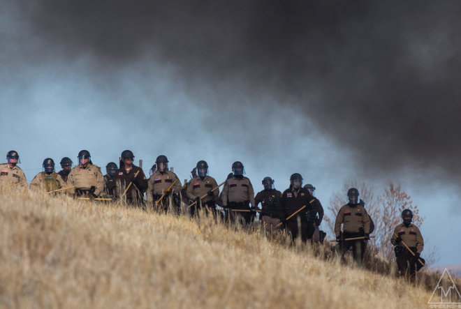letourvoicesecho-ocetioyate-militarizedpolice-sacredstone-standingrock