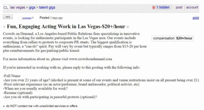 Crisis Actor Employment Las Vegas